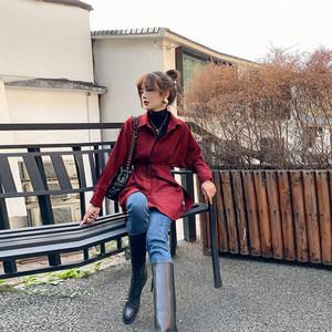 1025镁高镁女2019秋新款韩版衬衫