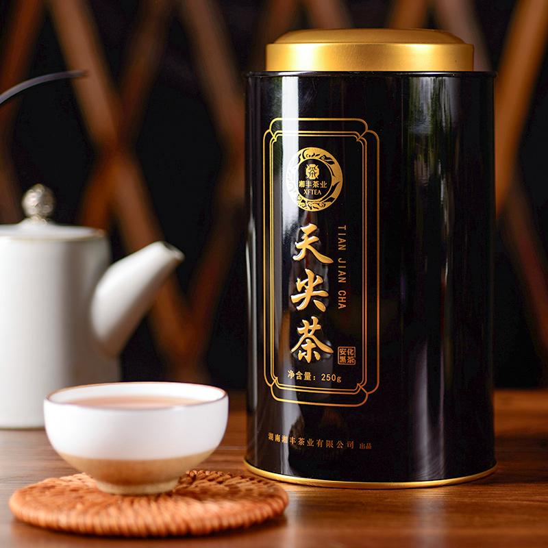 安化黑茶正宗湖南安化黑茶天尖茶黑茶散装茶叶正品罐装250g