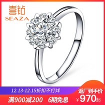 Hi drill carat diamond diamond ring 18k golden Womens ring jewelry Group with platinum Kinkla wedding ring Diamond Customization