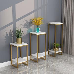 北欧铁艺花架金色简约客厅室内盆景装饰架绿萝落地多层置物架软装