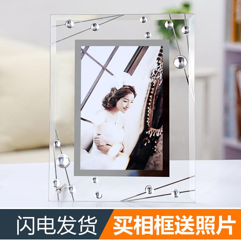 冲印洗照片水晶玻璃678寸创意相框满23.80元可用11.9元优惠券
