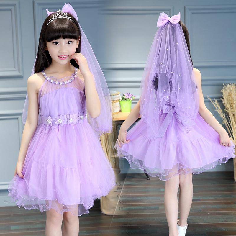 5 summer girls Princess Dress 6 childrens dress 7 little girls 8 summer 9 Korean version 4 clothes 3-12 years old 10