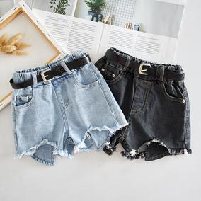 童装韩版夏季新款女童牛仔洋气短裤
