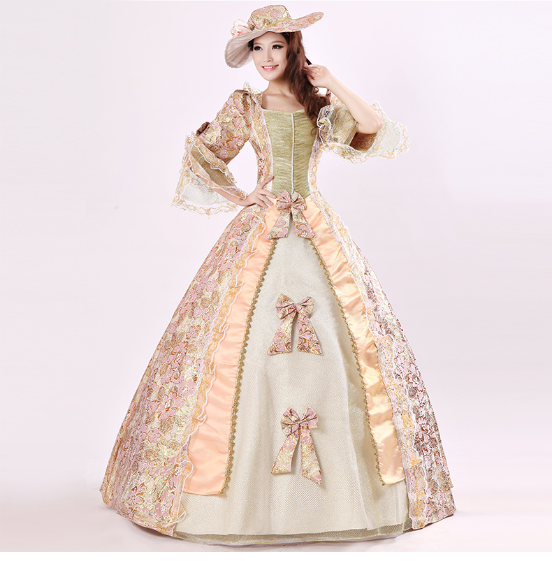 欧洲宫廷服饰儿童英国女皇欧式女舞蹈服公主蓬蓬裙礼服古装演出服