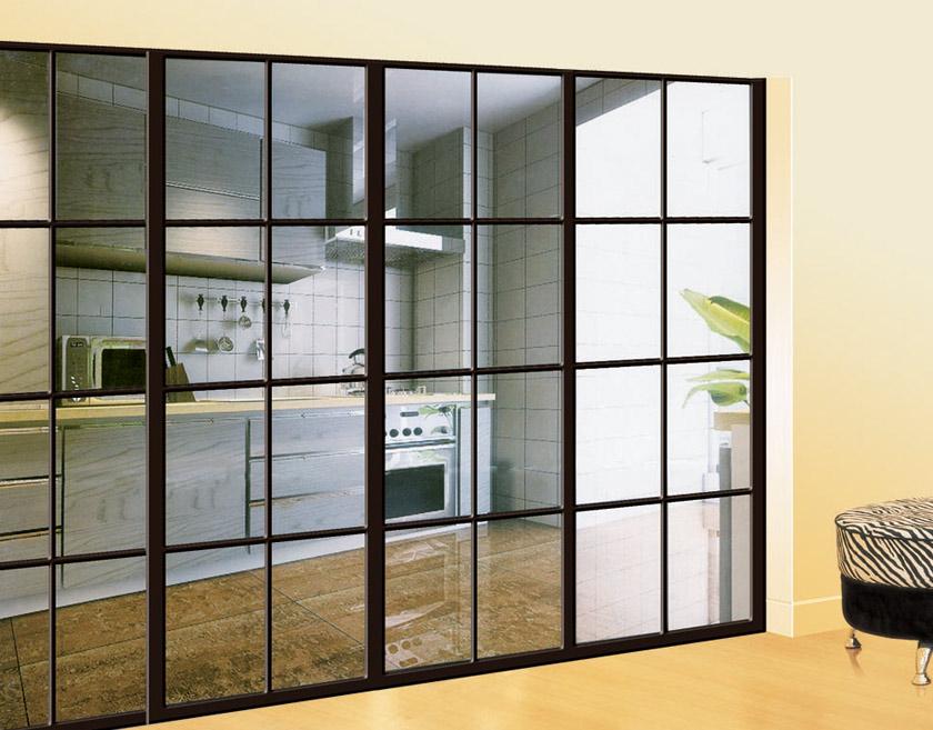 钛镁合金推拉门/客厅阳台厨房门隔断推拉门/玻璃移门定做