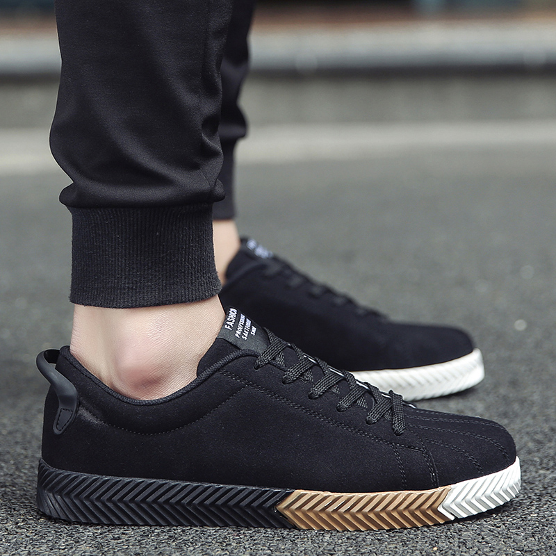 Increased spring men shoes black shoes Korean student movement shoes men shoes tide shoes thick crust muffin