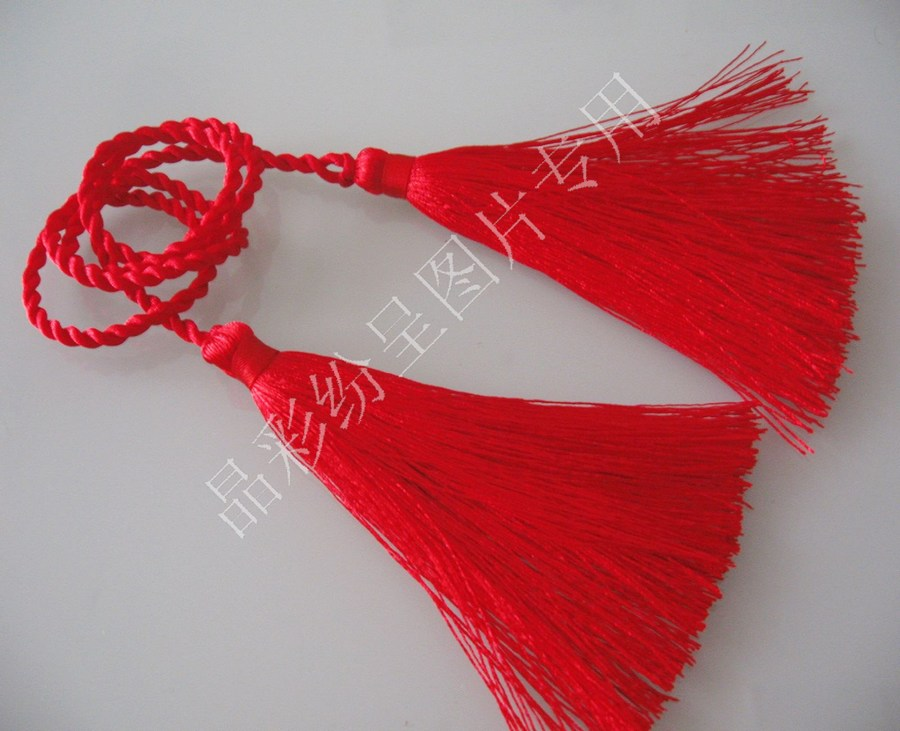 BJD baby clothes accessories ancient costume performance clothes tassel accessories Cosplay double head red tassel Qintai ancient rhyme