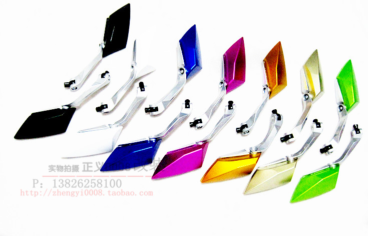 Мотоцикл производительность частей электрические РСЗ Fuxi косо Diamond белого стекла зеркало зеркало заднего вида Светоотражающий 3 поколений