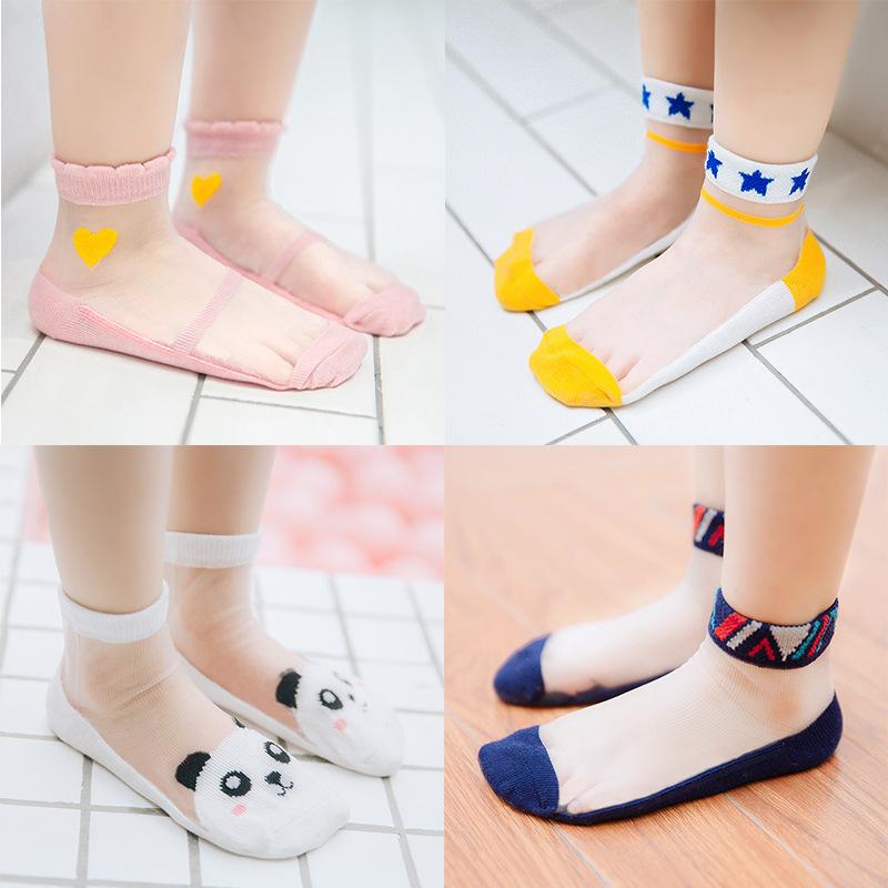 P015儿童袜子 卓上棉品童袜 春夏季新品船袜超薄透气网眼丝袜