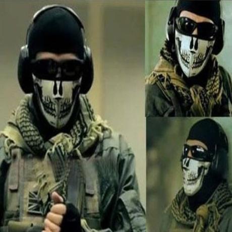 免邮使命召唤骷髅恐怖面罩海豹特种兵透气保暖CS防护战术幽灵面巾