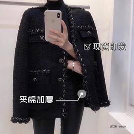 韩国2020秋冬装新款气质小香风外套女轻熟韩版网红风毛呢子上衣