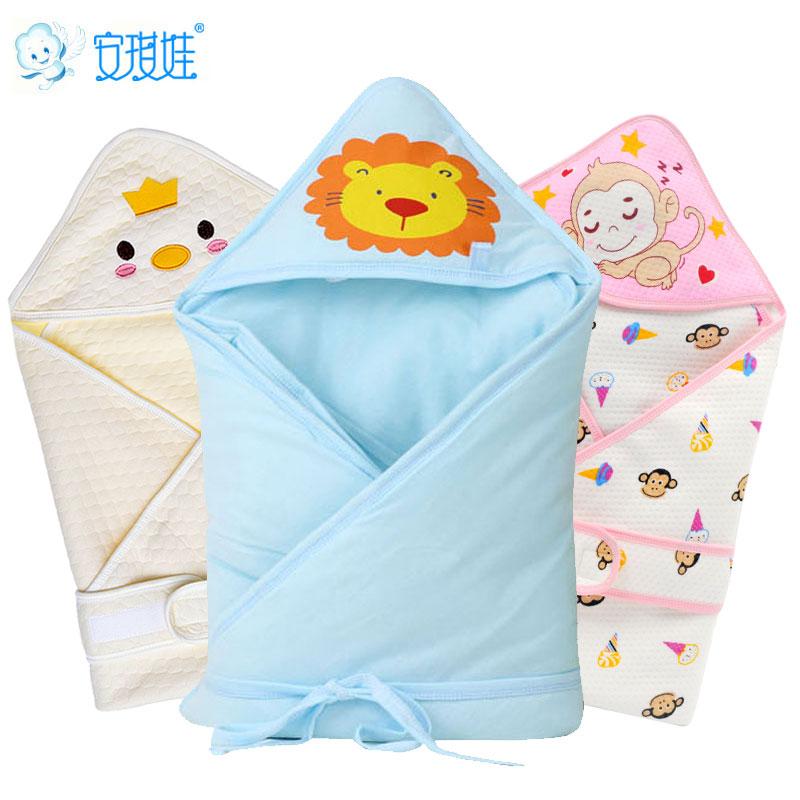初生嬰兒抱被春秋繈褓包巾小被子 睡袋寶寶包被抱毯新生兒用品