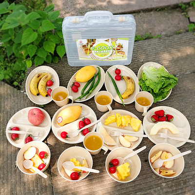 Outdoor tableware set Portable travel bowl spoon chopsticks picnic picnic barbecue supplies equipment camping tableware