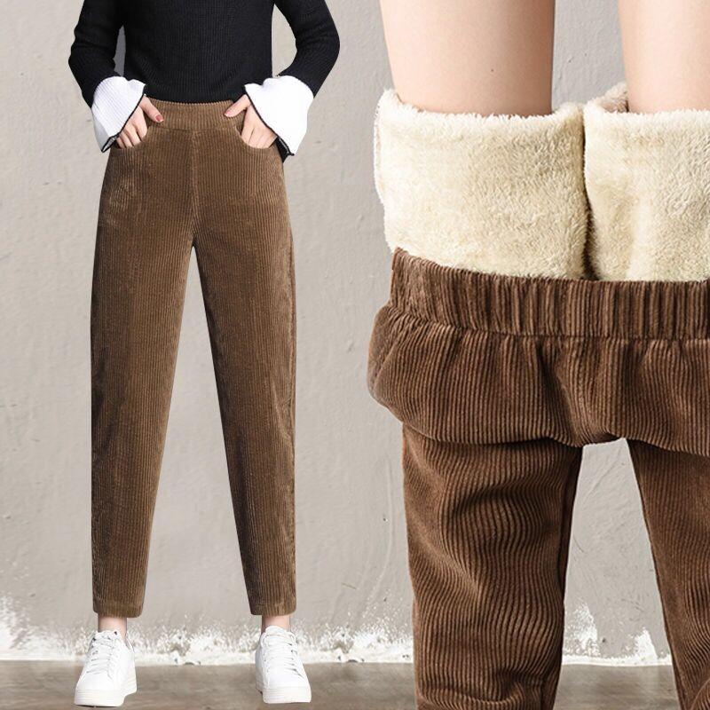 加绒/不灯芯绒子女秋冬外穿萝卜裤好用吗