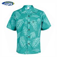 棕榈浪夏款夏威夷风格男士沙滩度假衬衣宽松印花加大码