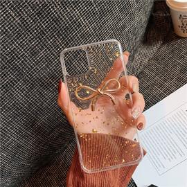 金色蝴蝶结苹果11手机壳iPhonex个性8plus创意7plus透明6splus滴胶6s/7/8防摔xr女11pro硅胶xs max六6p八xmax图片