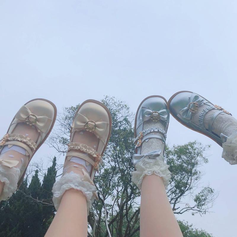 [Stock] original tiger Miao (meow) bow soft girl Lolita shoes JK