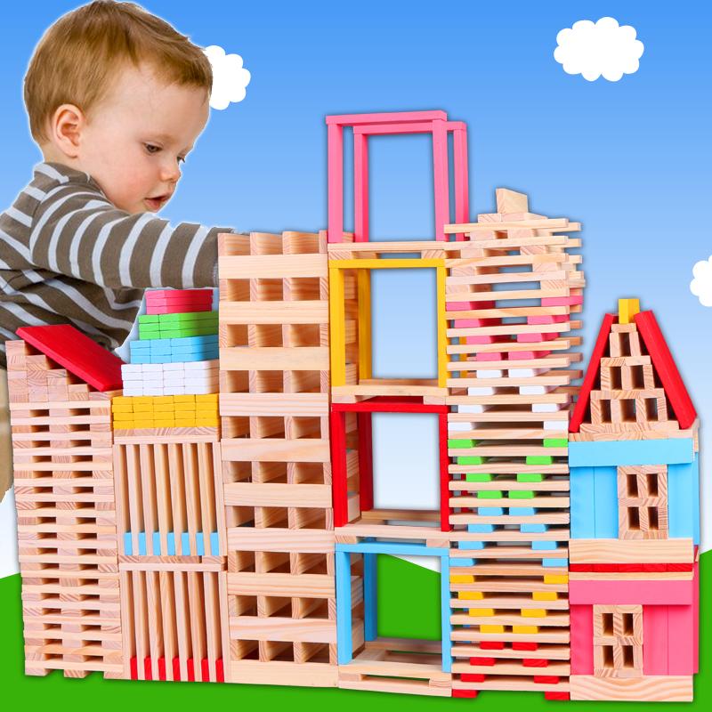 卡普乐建筑模型材料木条堆塔积木