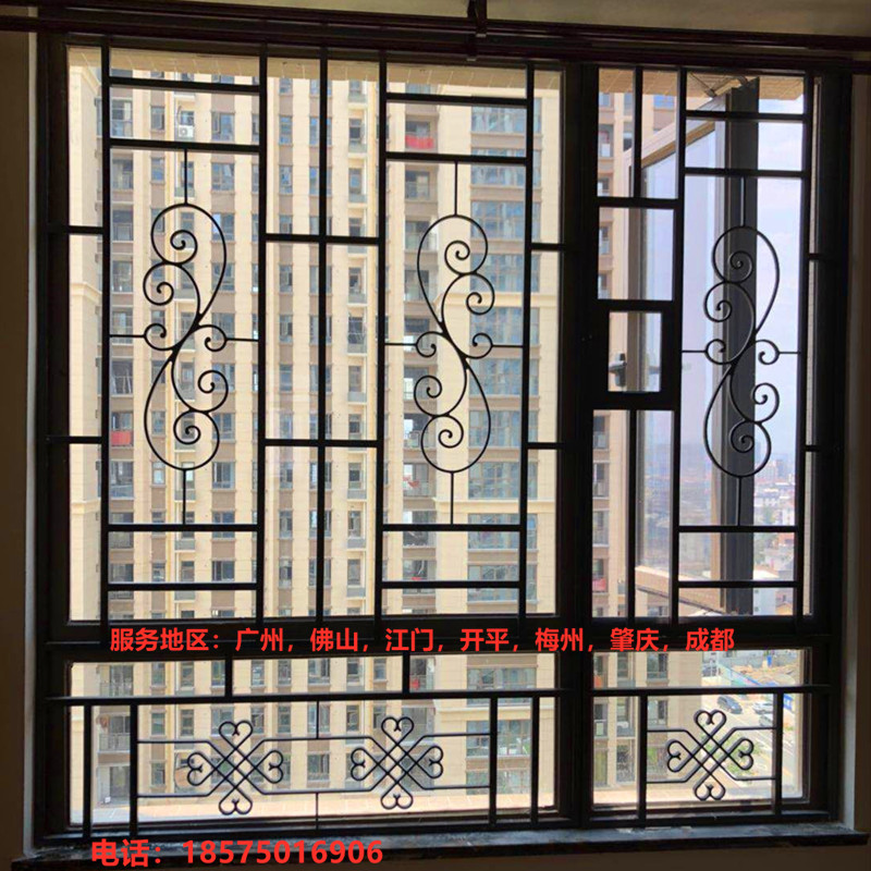 溶接窓花アルミニウム合金盗難防止窓蚊防止防止304金鋼網網戸ベランダ防護柵窓