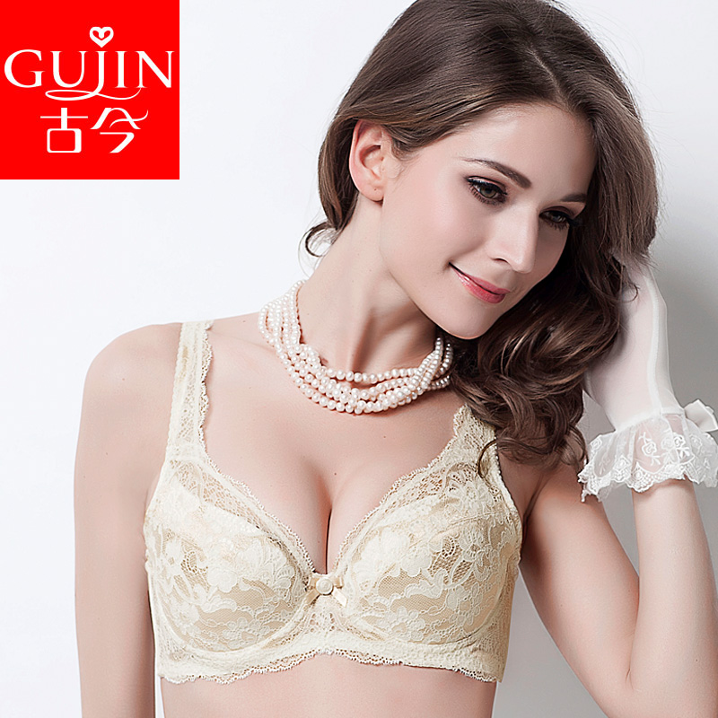 古今专柜薄款大码女文胸 聚拢调整型蕾丝内衣胸罩0B250