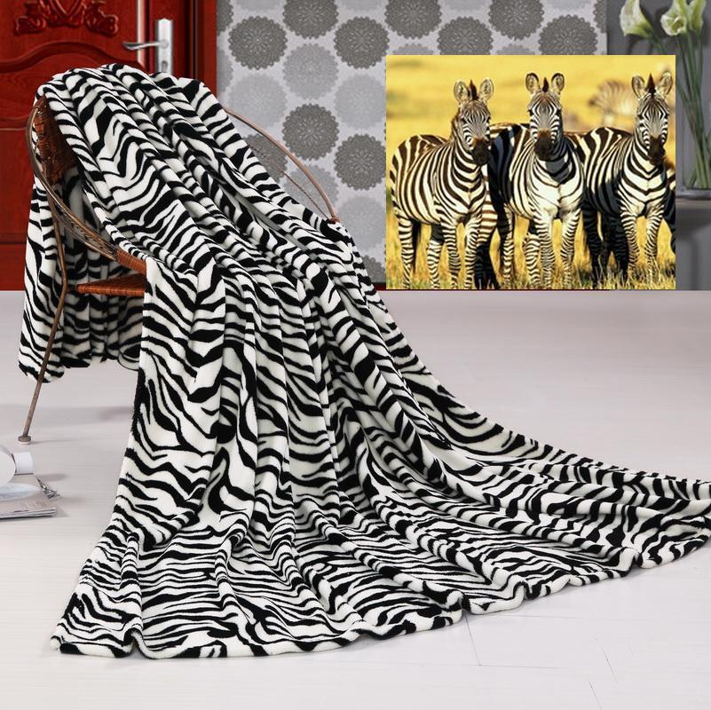 Пакет электронной почты серии НПД одеяло коралловые флис одеяло одеяло зимний постельного белья черно-белая зебра четырех частей костюм