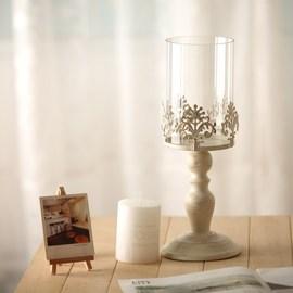 欧式烛台餐桌玻璃烛台装饰铁艺烛台摆件水晶烛台样板间婚庆摆件图片