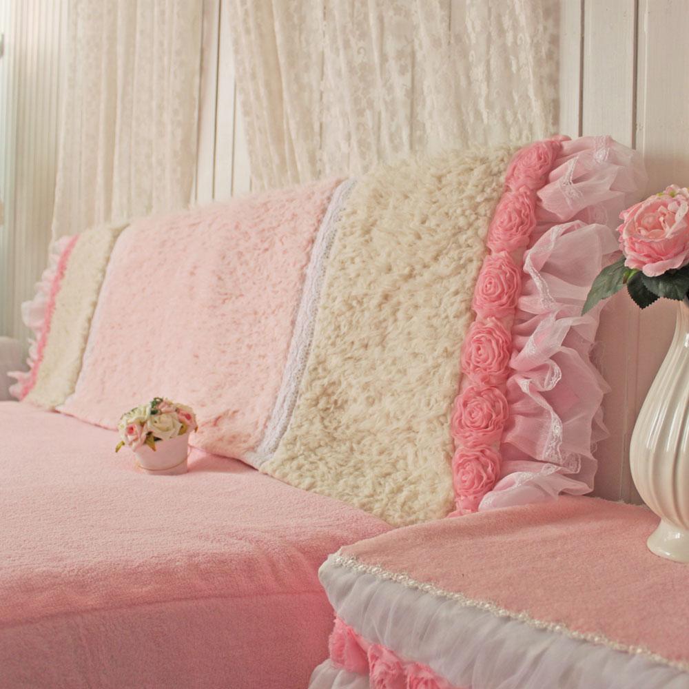 BeautyDream принцесса ветер розовый плюш прикроватный наборы постельного белья капот двойной стеганый прикроватный пылезащитный чехол стандарт