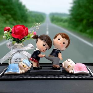 创意个性汽车香水摆件车载可爱公仔饰品车上情侣摆饰车内装饰用品