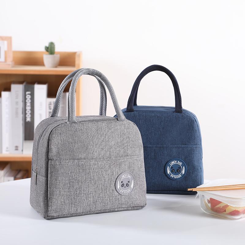 12-02新券加厚饭盒袋子保温袋便当袋手提包铝箔保暖手拎袋帆布袋学生拎午餐