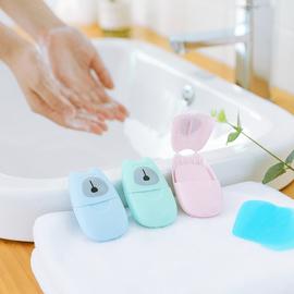 创意旅行便携式一次性杀菌清洁卫生洗手肥皂纸百变造型香皂50片装图片