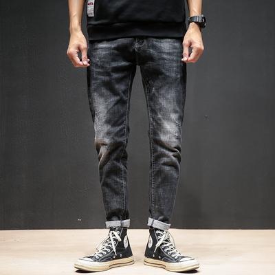 秋冬新款 弹力修身小脚牛仔裤 大后袋钮扣装饰C1915/P85控价115