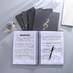 a4钢琴谱乐谱夹册镂空可修改不反光