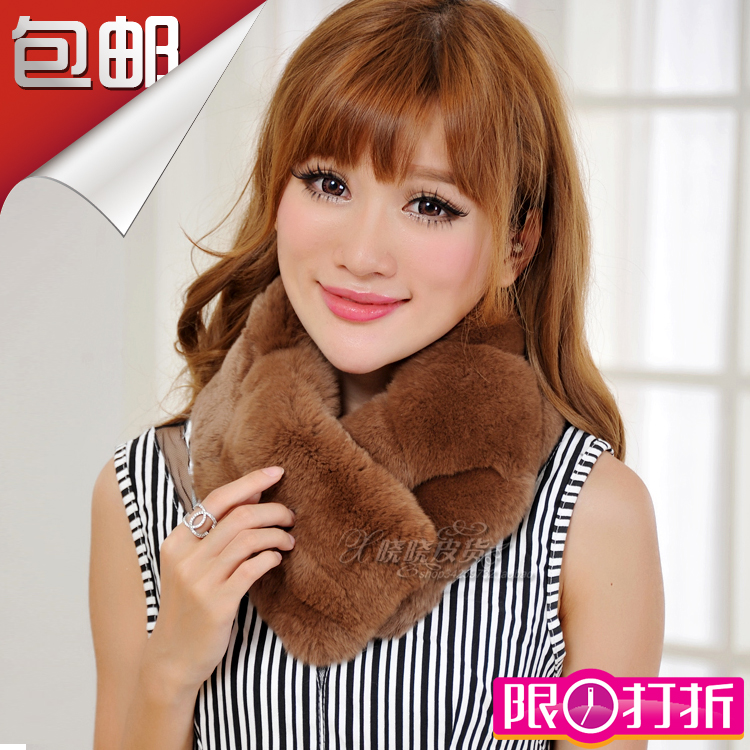 Star same thick Rex Rabbit Fur grass Bib scarf keep warm in winter cheap and affordable to send to your girlfriend mom