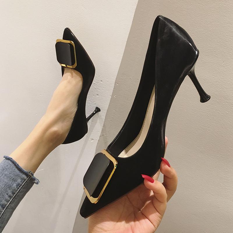 高跟鞋ins仙网红春秋2019新款百搭时尚法式少女仙女风细跟单鞋子148.00元包邮