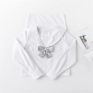 正統JK制服上衣 基礎款 日本正版水手服 白無本 中間服夏服關西襟