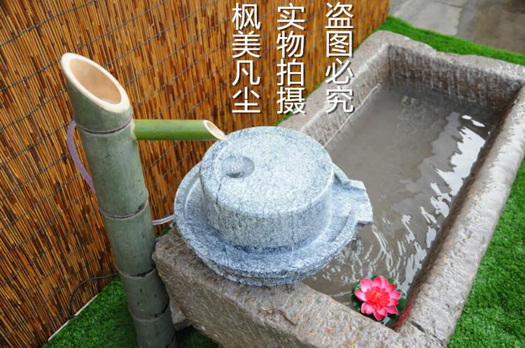 Японский суд больница монокуляр автономный бамбук проточная вода устройство сад лес спрей весна рыба бассейн бамбук трубка бамбук капающий сад декоративный бамбук