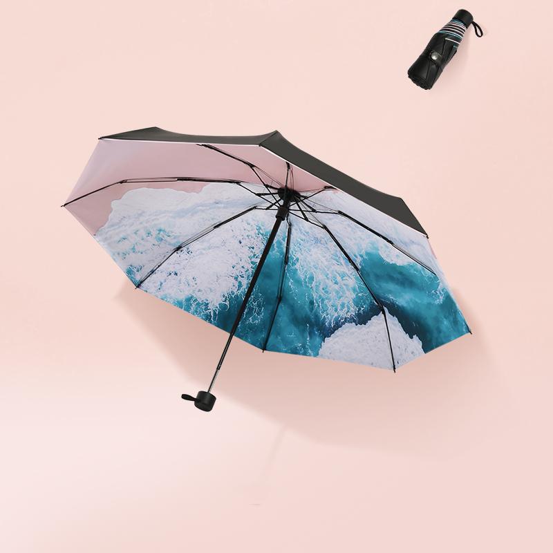 雪堡雨伞女晴雨两用太阳伞防晒防紫外线伞五折超轻小巧便携遮阳伞12月01日最新优惠
