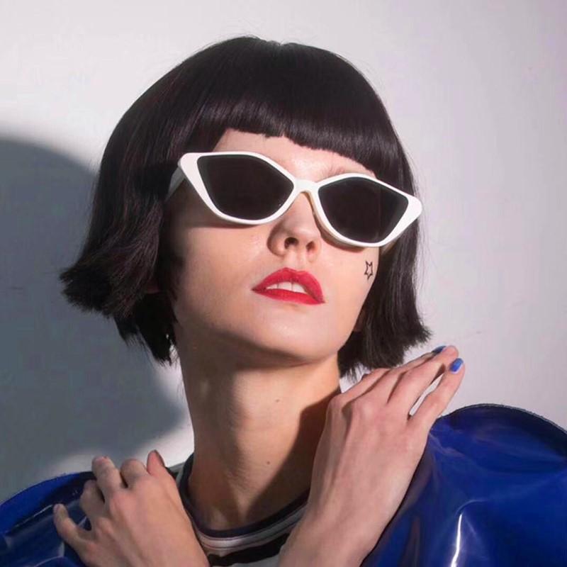 凹造型小框不规则时尚网红太阳镜女欧美尖角猫眼墨镜复古眼镜男潮