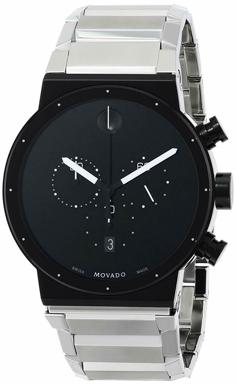 美国代购Movado摩凡陀男士0606800 Synergy不锈钢手表