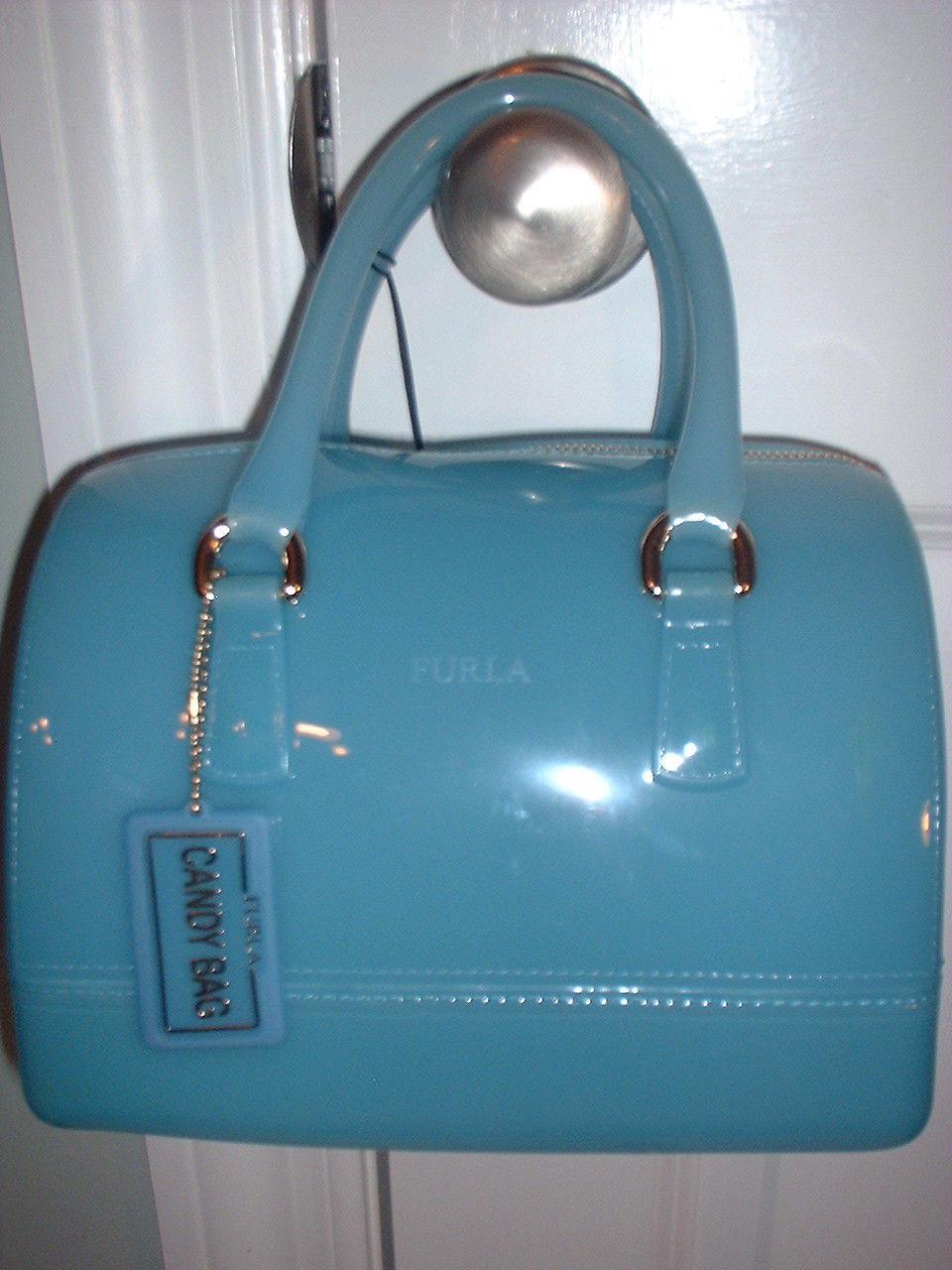 美国代购Furla芙拉Candy包手提包Jelly Turchese蓝色