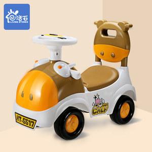 活石儿童童车婴幼儿扭扭车玩具可坐骑学步滑行宝宝带音乐溜溜车