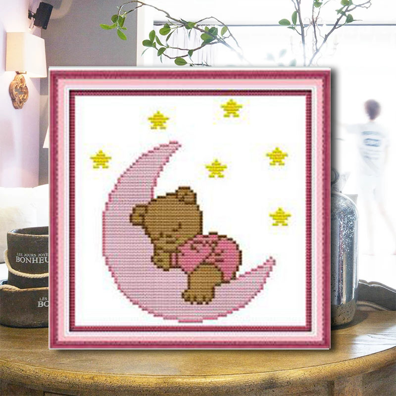 2021 new Bear Cross Stitch household animation cartoon manual student novice small simple embroidery
