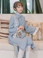观虞原创【故君来】改良旗袍连衣裙中国风年轻款复古优雅少女秋冬