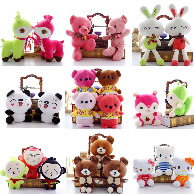 婚庆结婚毛绒玩具玩偶抓机娃娃小号熊公仔布娃娃儿童女生礼物批发