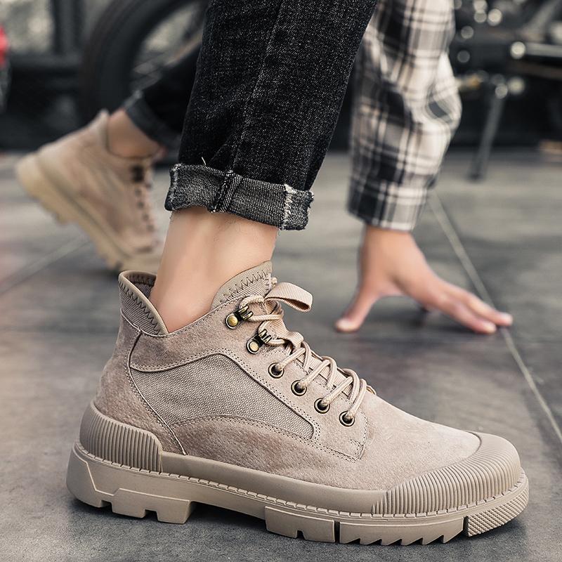 男鞋马丁靴男高帮英伦风工装靴子韩版潮流百搭秋季低帮马丁鞋冬季
