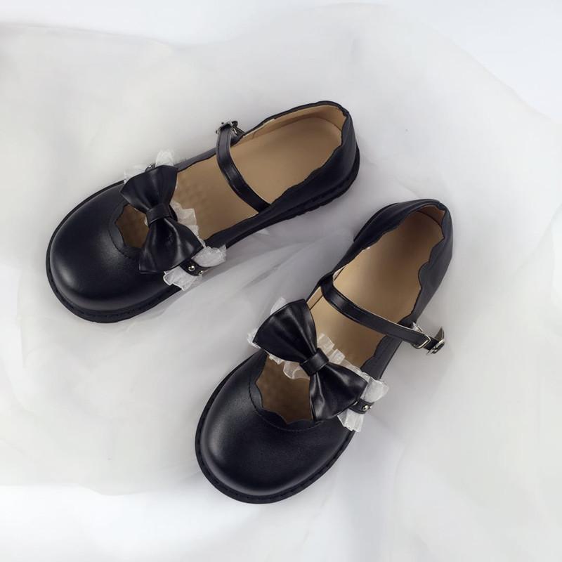日系lolita洛丽塔花边软妹鞋玛丽珍低跟jk制服圆头小皮鞋少女lo鞋