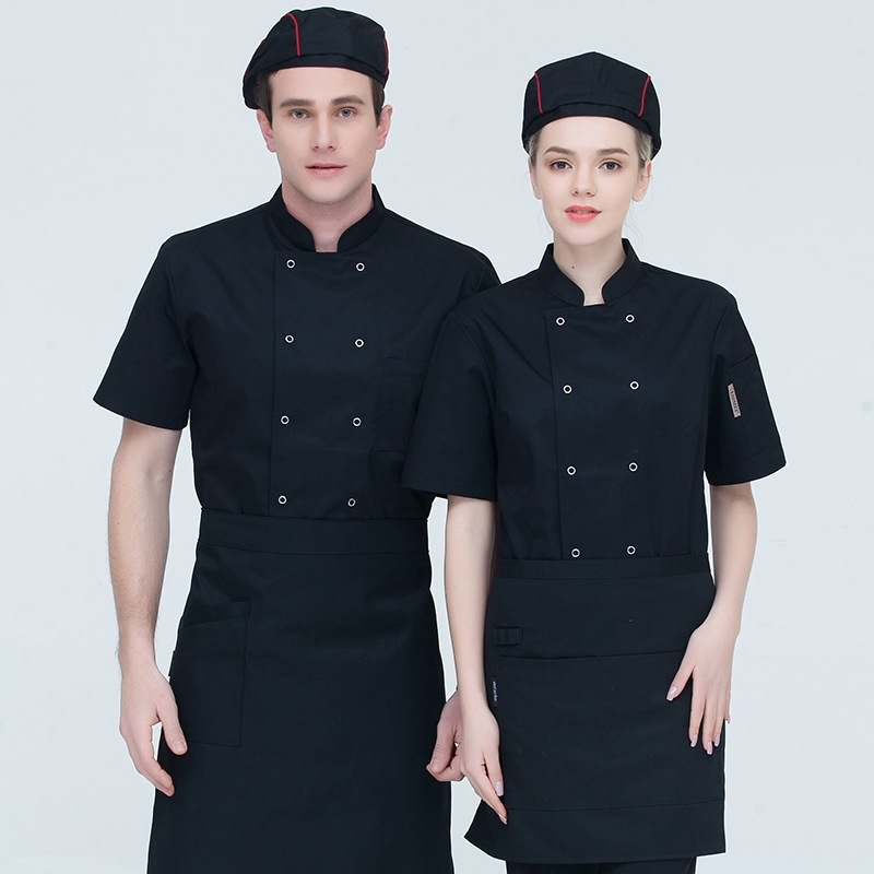 Hot pot shop chefs clothes short sleeved Bakers uniform Bakers work clothes cake clothes Mounters summer barbecue
