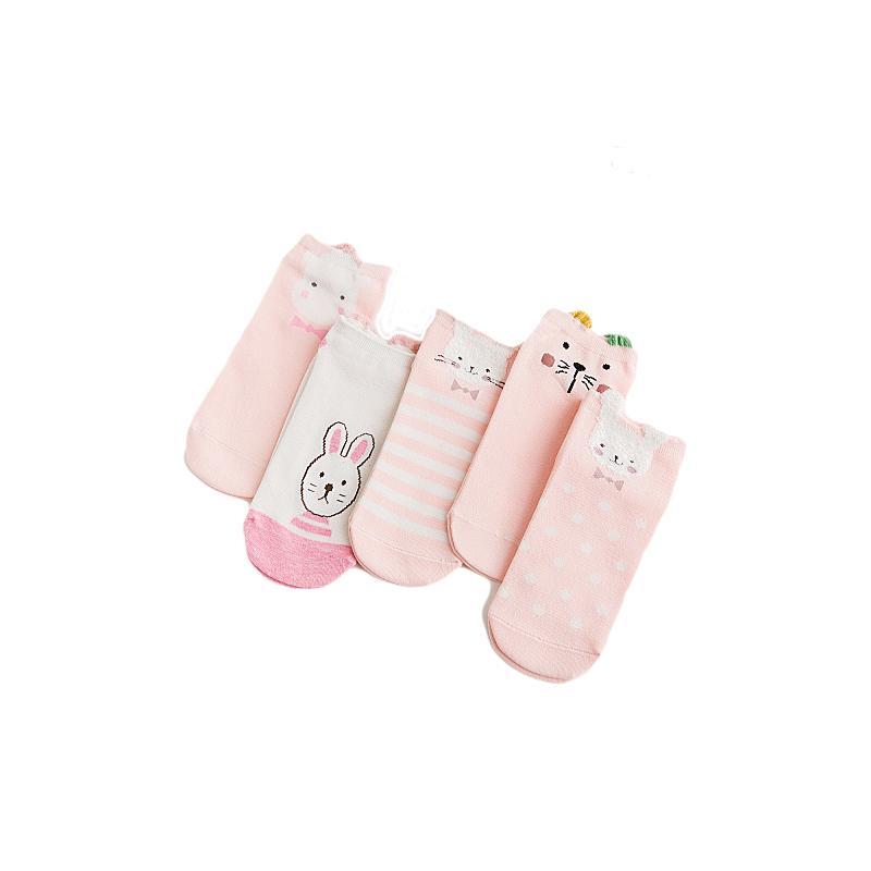 短袜子女薄纯色棉吸汗春夏季韩国卡通可爱低帮浅口防滑学院风船袜