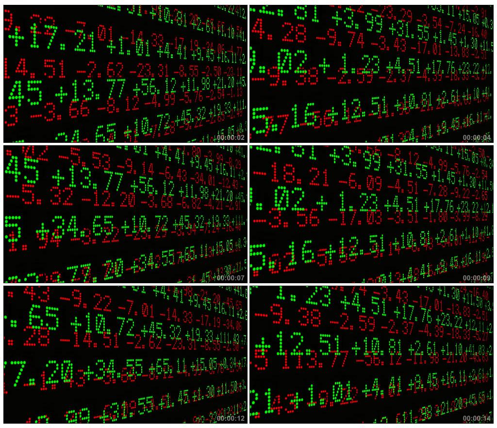 53-现代化股市屏幕数字跳动股票交易场景LED动态背景视频素材