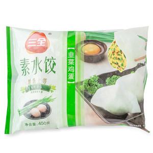 【天猫超市】 三全素水饺韭菜鸡蛋450g 方便速食